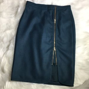J.Crew: Zip Pencil Wool Skirt Size 6